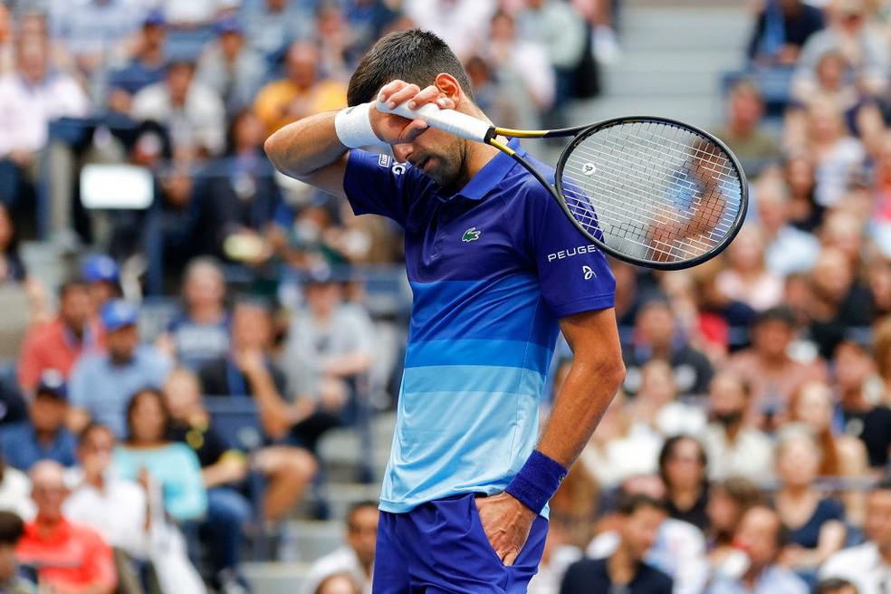 Djokovic não foi páreo para Medvedev e ficou com o vice-campeonato — Foto: Sarah Stier / Getty Images