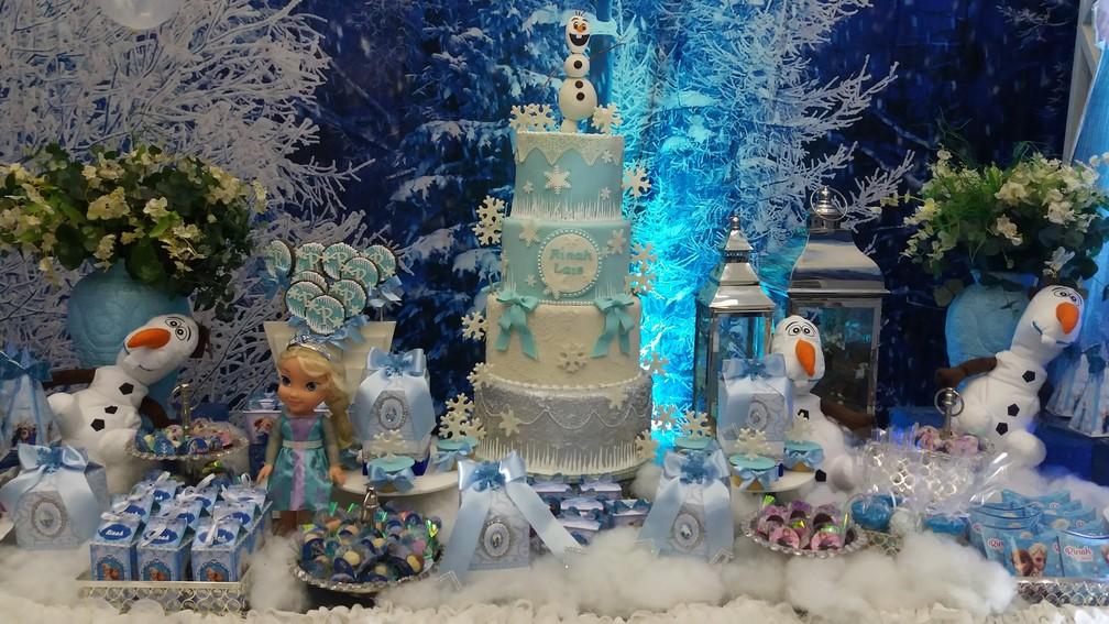 Temática foi inspirada em história infantil do filme Frozen (Foto: Rita Torrinha/G1)