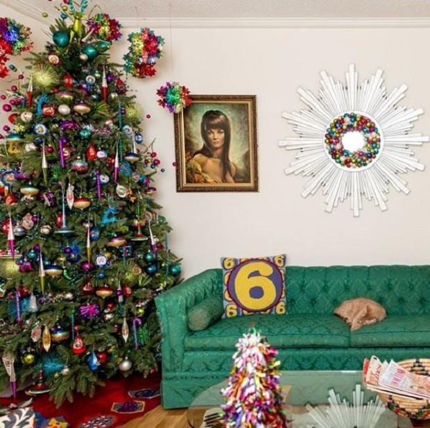 """""""Essa é uma visão do Natal passado. Mas veja, às vezes eu decor árvores de Natal verdes"""", brincou em sua página no Instagram  (Foto: Reprodução/ Instagram)"""