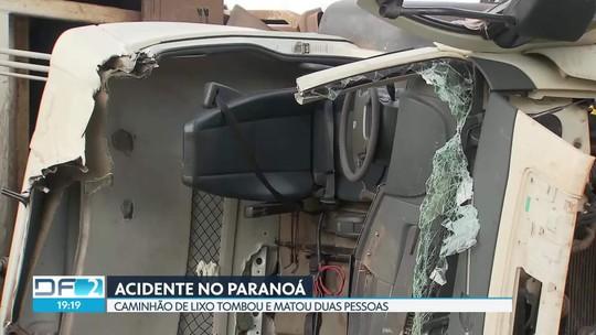 Acidente com caminhão de lixo deixa dois mortos no Paranoá