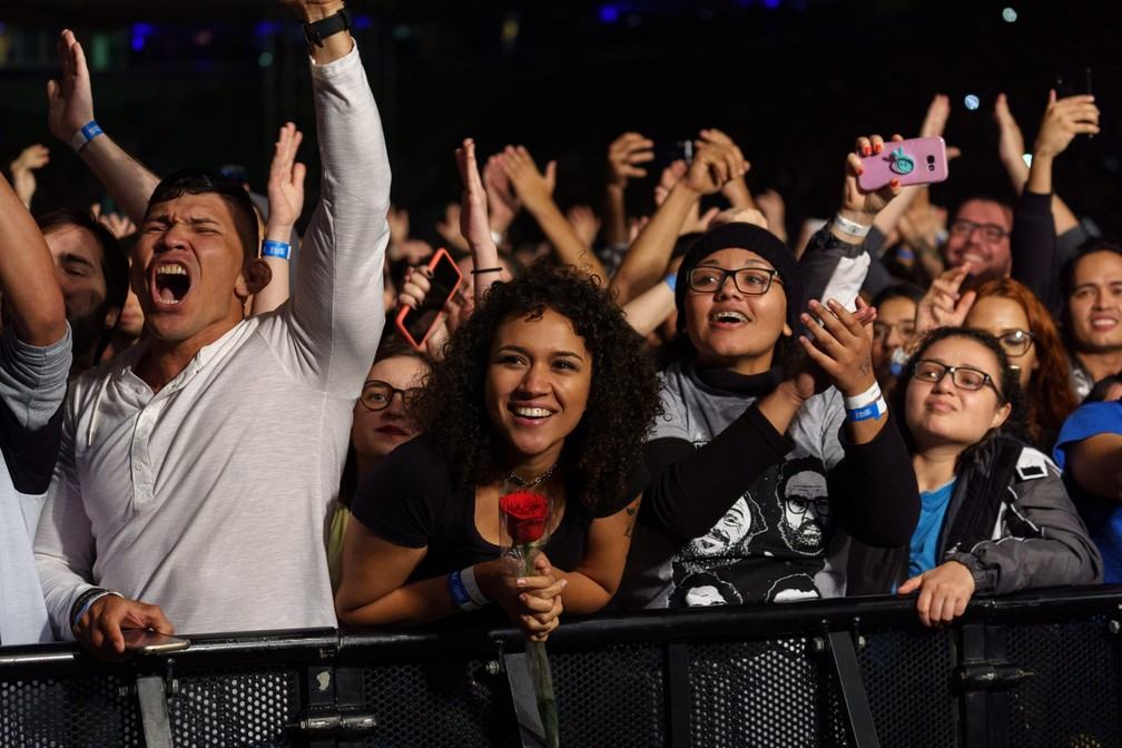 Los Hermanos toca em São Paulo  — Foto: Marcelo Brandt/G1