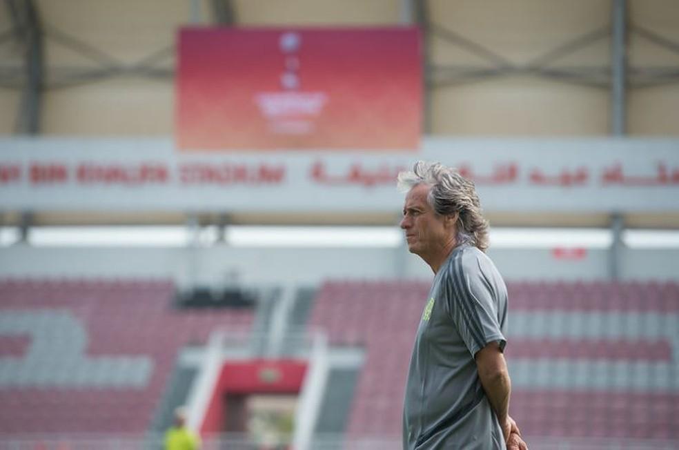 Jorge Jesus disputa pela primeira vez o Mundial de Clubes — Foto: Alexandre Vidal / Flamengo