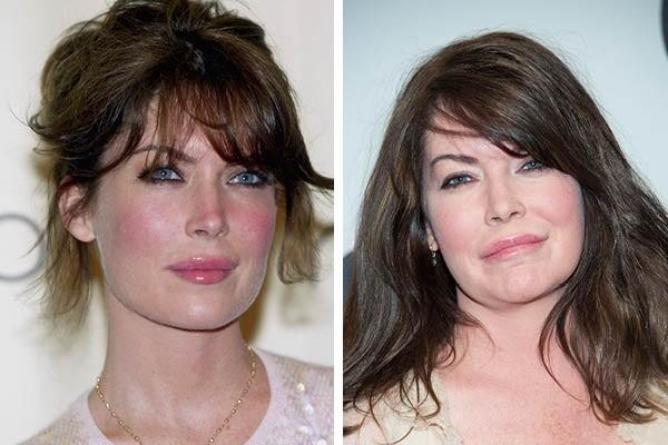Lara Flynn Boyle em 2005 e agora (Foto: Getty Images)