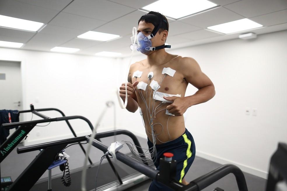 Testes físicos da seleção brasileira na Granja Comary: Thiago Silva (Foto:  Lucas Figueiredo/CBF)