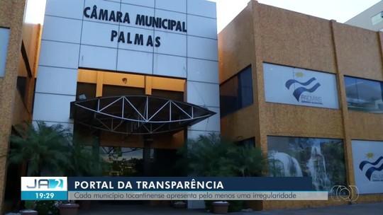 Todas as prefeituras do TO têm irregularidades em portais da transparência