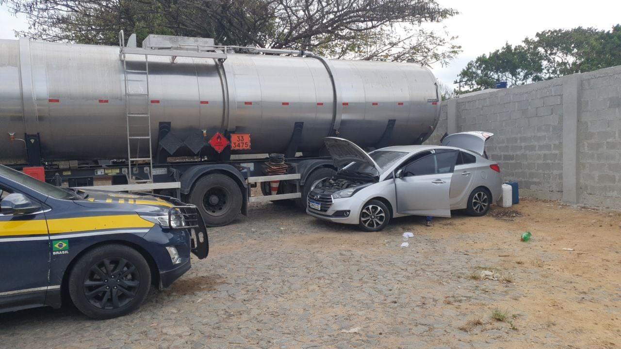 Dois homens são presos por envolvimento em roubo de gasolina no ES