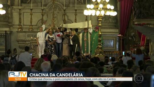 Ato lembra os 26 anos da Chacina da Candelária, no Centro do Rio