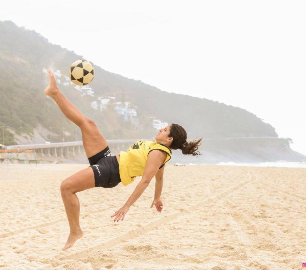 Sesc Verão 2020 tem na programação Clínica de Altinha com a atleta Patricinha — Foto: Sesc Verão2020/Divulgação
