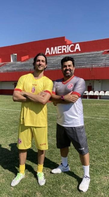 Vladimir Brichta e Marcelo Flores (Foto: Arquivo pessoal)