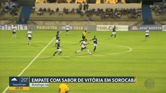 Melhores momentos do empate do Botafogo em Sorocaba