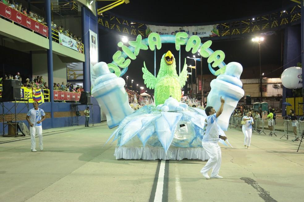 Agremiação Carnavalesca Deixa Falar Carnaval de Belém 2020 — Foto: Alessandra Serrão/Comus