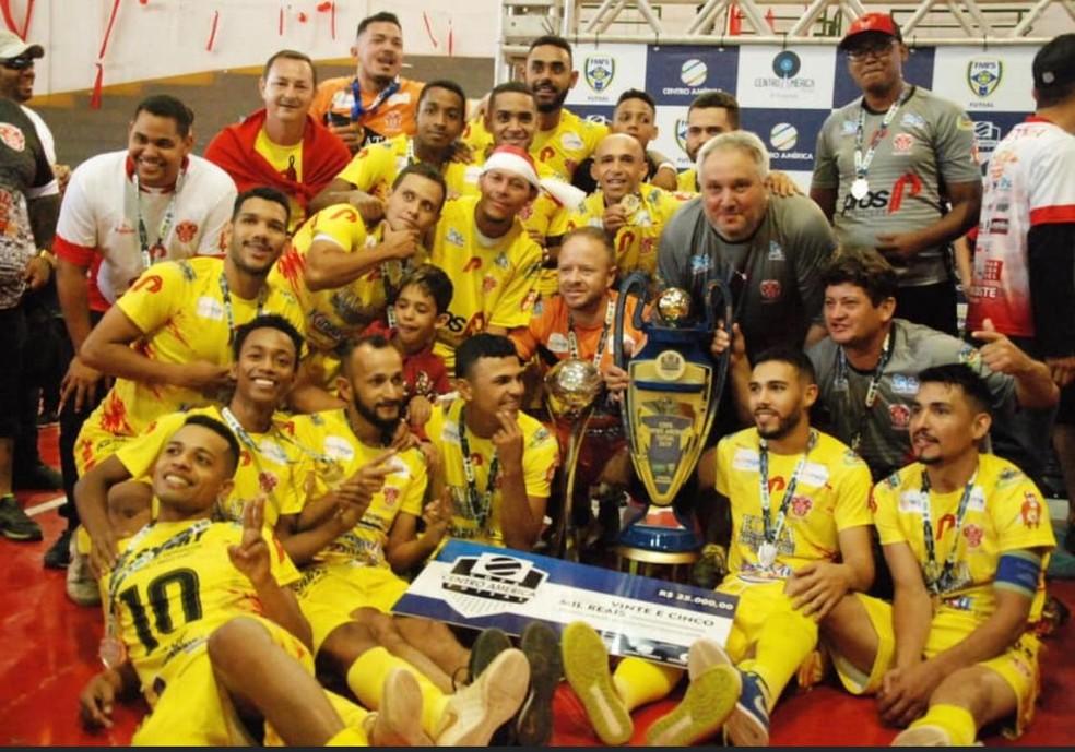 PFOS/Alta Floresta, atual campeão da Copa Centro América de Futsal será um dos representantes de MT em competições nacionais  — Foto: FMFS