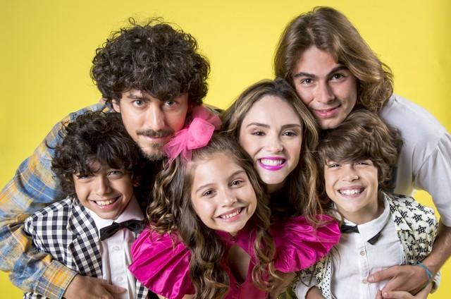 Elenco de 'Verão 90' (Foto: João Cotta/TV Globo)