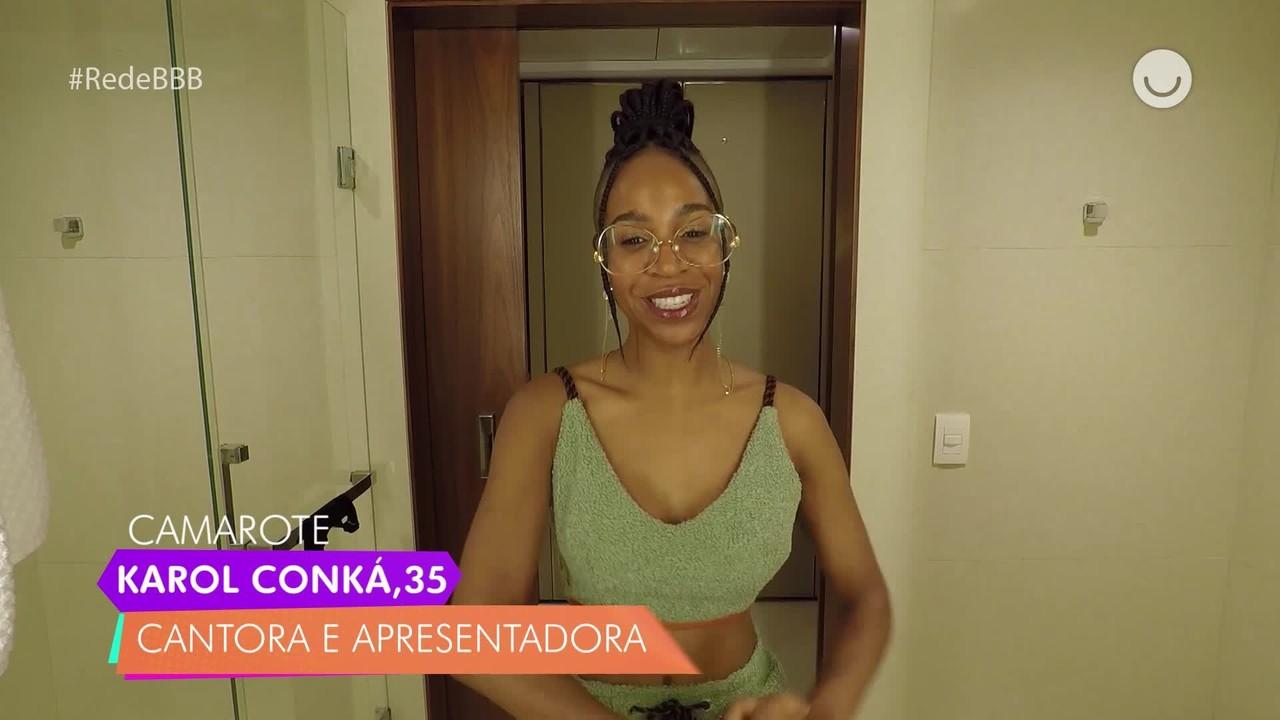 Karol Conká, do BBB21, responde perguntas sobre o jogo no Diário do Confinamento