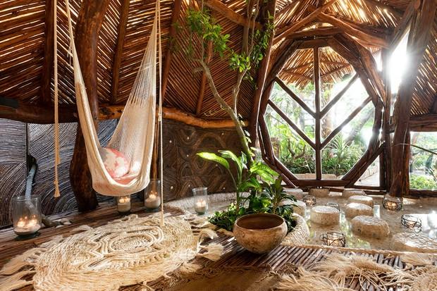 Habitación en el Hotel Azulic en Aqua Villa, México (Foto: Crianza)