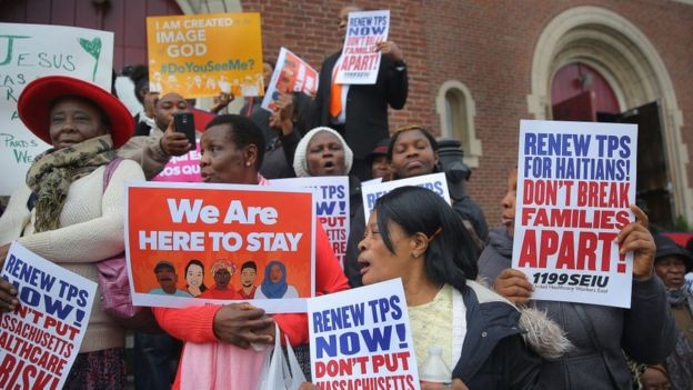 Haitianos com autorização temporária para ficar no país podem ser obrigados a voltar pra casa (Foto: Getty Images via BBC News Brasil)