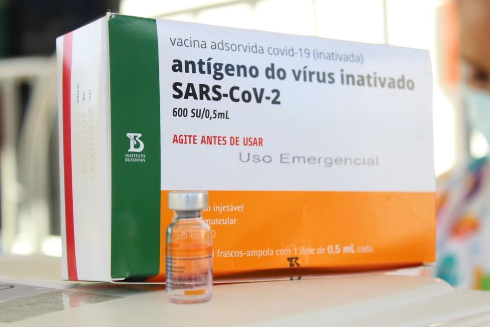 Segunda dose da CoronaVac será aplicada neste mês em profissionais da saúde e idosos institucionalizados  — Foto: Vanessa Fernandes/G1 RR