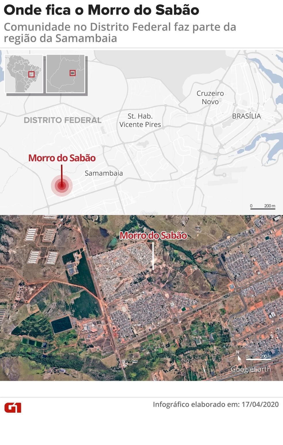 Morro do Sabão — Foto: Arte/G1