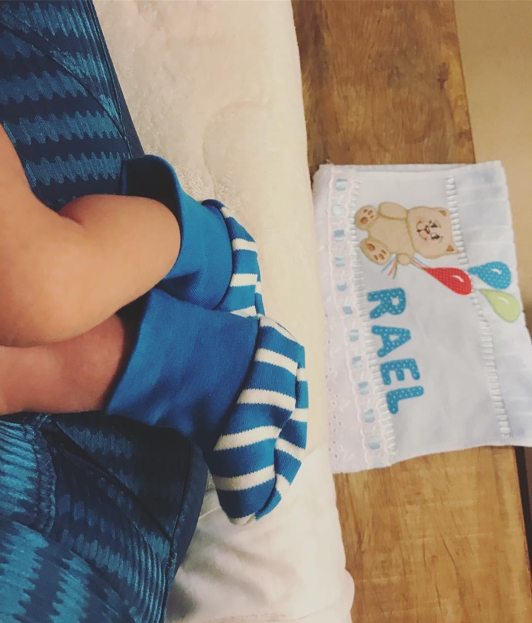 Os pés de Rael (Foto: Reprodução / Instagram)