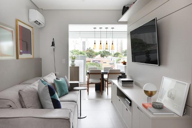 Aconchego e funcionalidade em apê de 41 m²  (Foto: FOTOS MARIANA ORSI )