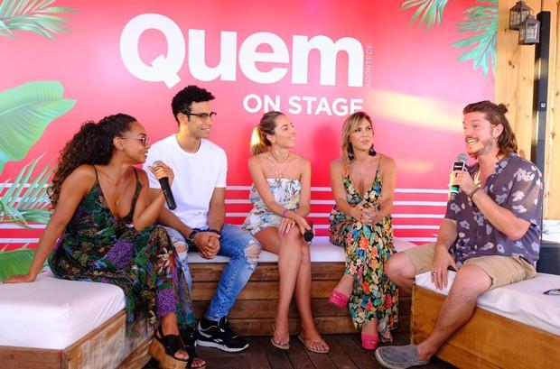 Dandara Mariana, Sérgio Malheiros, a repórter de QUEM Giulianna Campos, Paula Amaral  e Caio Paduan (Foto: Renato Wrobel/Ed. Globo)