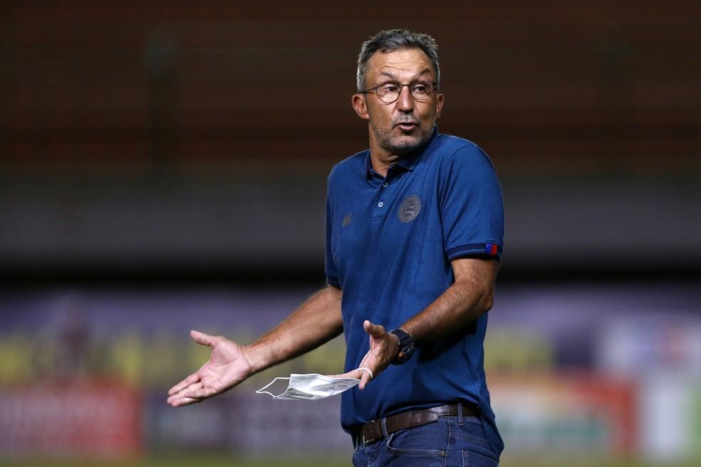 Cláudio Prates, técnico do time de transição do Bahia — Foto: Felipe Oliveira/EC Bahia