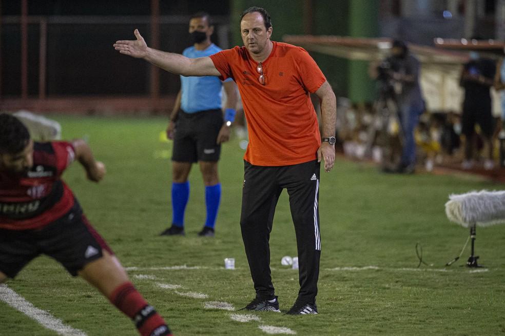 Ceni na partida do Flamengo contra a Portuguesa — Foto: Alexandre Vidal/Flamengo