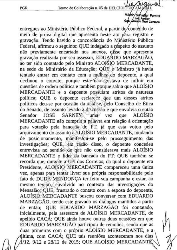 Termo de colaboração assinado por Delcídio pag. 2 620px (Foto: Reprodução)