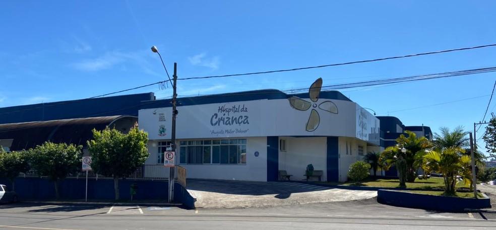 Hospital da Criança de Chapecó  — Foto: Lucas Liston/ NSC TV