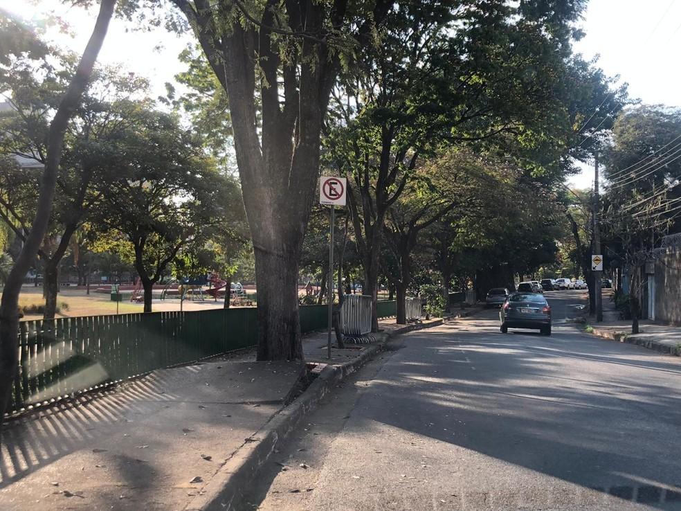 Praça JK, no bairro Sion, Região Centro-Sul de Belo Horizonte, já foi reaberta nesta quinta-feira (20). — Foto: Gabriele Lanza/TV Globo