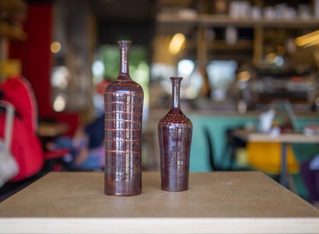 As cerâmicas da Terracotta Brazil estão na loja do café (Foto: Ricardo Theodoro/ Divulgação )