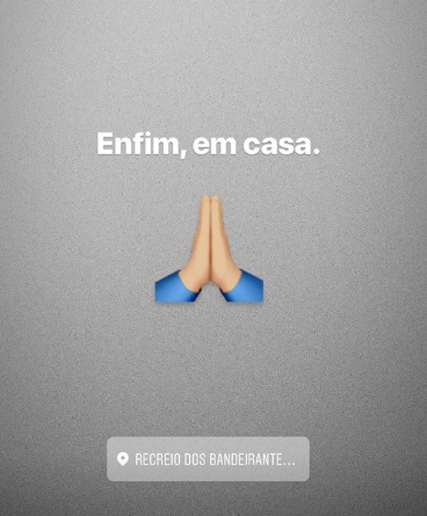 Arlindo Cruz comemora retorno para casa em post nas redes sociais (Foto: Reprodução/Instagram)