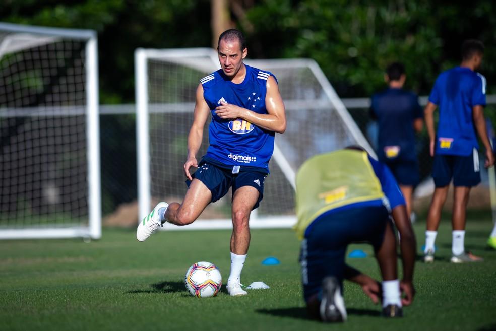 Rodriguinho durante treino do Cruzeiro — Foto: Bruno Haddad/Cruzeiro