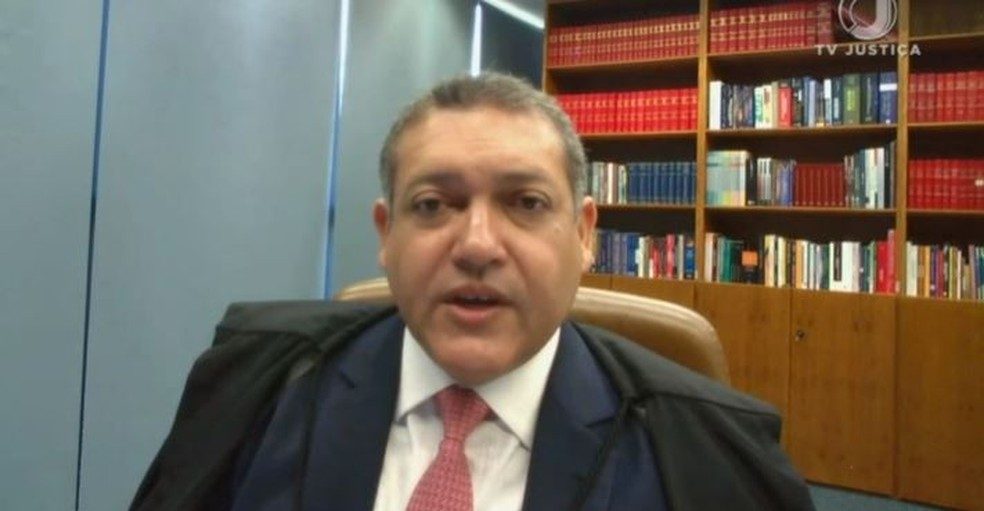 Ministro Nunes Marques liberou a realização de cultos e missas  — Foto: Reprodução/TV Justiça