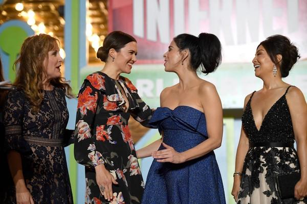 Jodi Benson, Mandy Moore, Sarah Silverman e Ming-Na Wen no lançamento de Detona Ralph 2 (Foto: Getty Images)