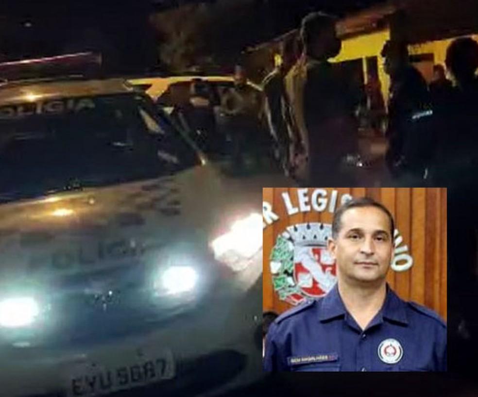 GCM de Aguaí morre após troca de tiros com assaltantes — Foto: Sagui Florindo/Gazeta de Aguaí