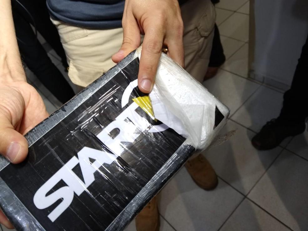 Cocaína pura apreendida no estado do Piauí — Foto: Rafaela Leal /G1 PI