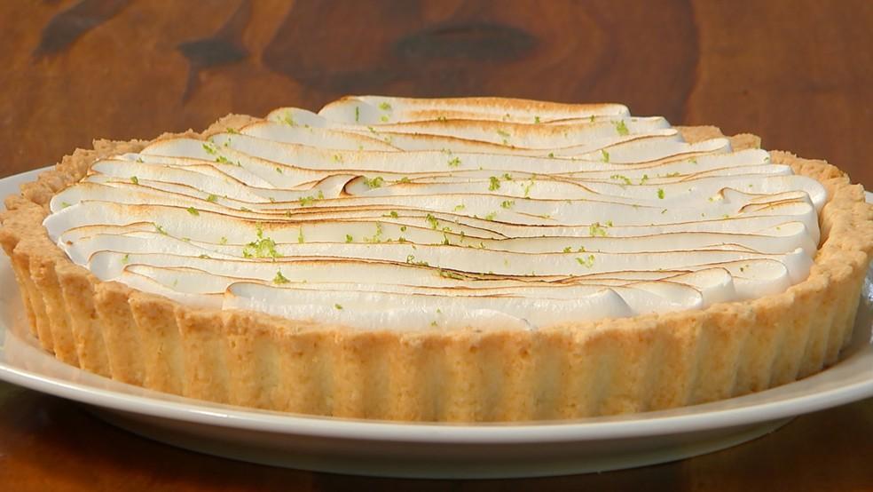 Receita Nosso Campo: aprenda a preparar uma torta de limão — Foto: Reprodução/TV TEM