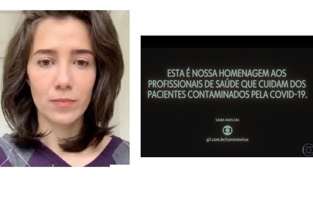 Marjorie Estiano compartilhou homenagem aos profissionais da saúde e escreveu: 'Defenda o SUS. Toda a minha admiração' (Foto: Reprodução/Instagram)