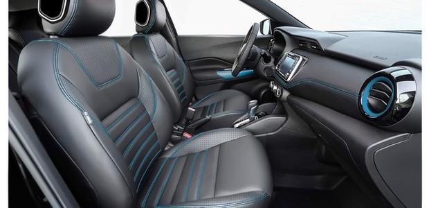 Interior do Nissan Kicks Rhythm (Foto: Divulgação/Nissan)
