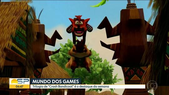 Coleção com 'Crash Bandicoot' em 4K é principal lançamento da semana; G1 comenta em VÍDEO