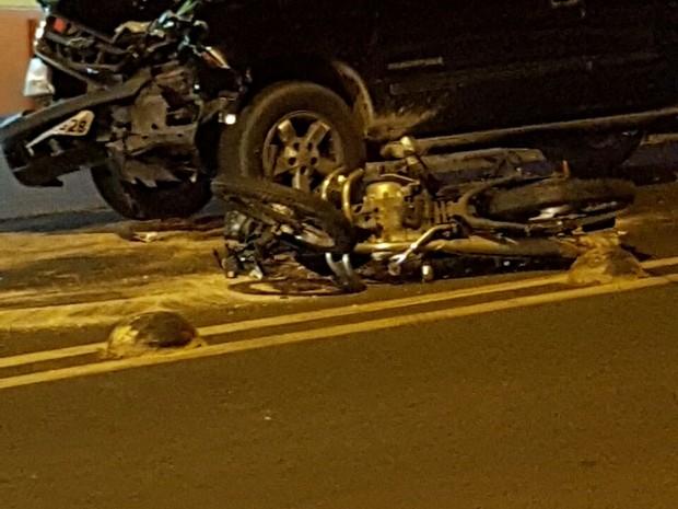 Acidente aconteceu na noite de sábado em Bauru  (Foto: Arquivo pessoal)