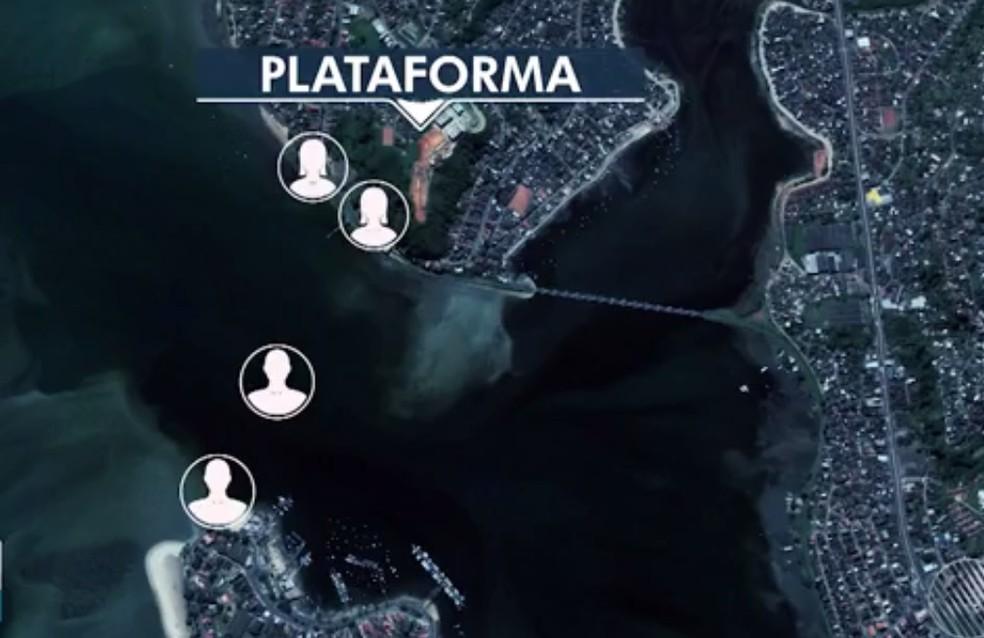Jovens foram atacados entre os bairros de Ribeira e Plataforma  (Foto: Reprodução/TV Bahia)