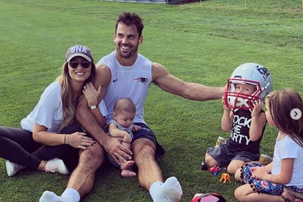 Jogador do New England Patriots Eric Decker, que é casado com a cantora Jessie James, decidiu se aposentar da NFL (Foto: Reprodução/Instagram)