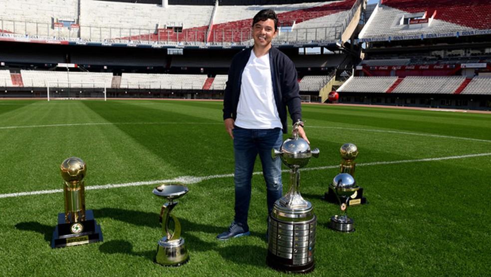 Marcelo Gallardo já conquistou sete taças como técnico do River Plate (Foto: Divulgação/River Plate)