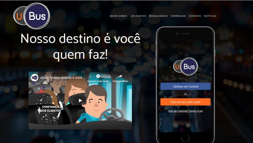 UBus disponibiliza transporte coletivo na cidade de São Paulo e no ABC paulista — Foto: Reprodução/Lívia Dâmaso