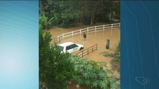 Chuva deixa nove famílias desabrigadas no Sul do ES