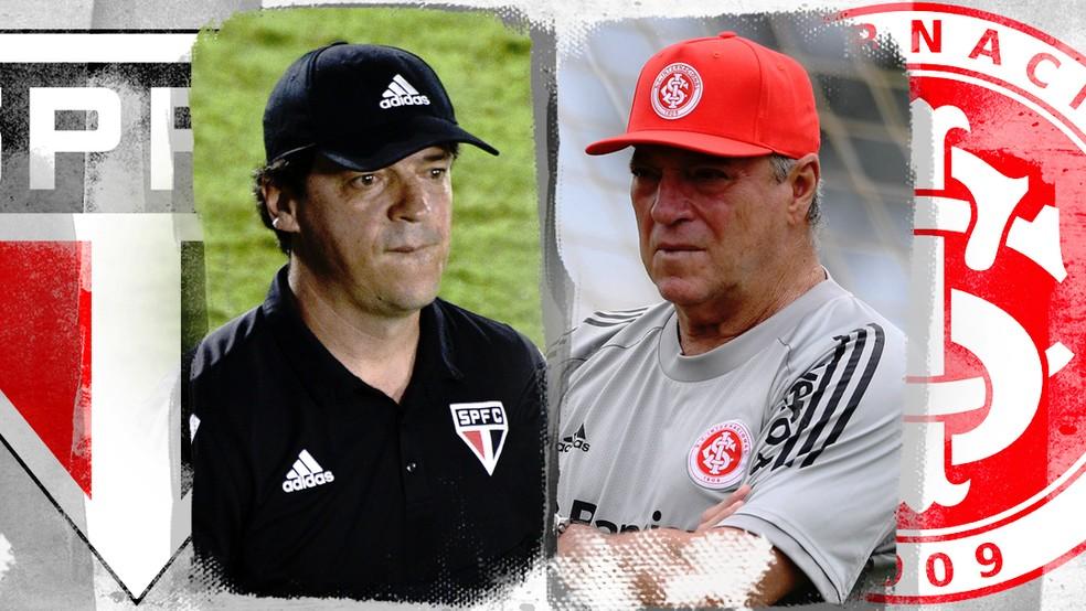 Fernando Diniz e Abel Braga comandam São Paulo e Inter no Brasileirão — Foto: ge