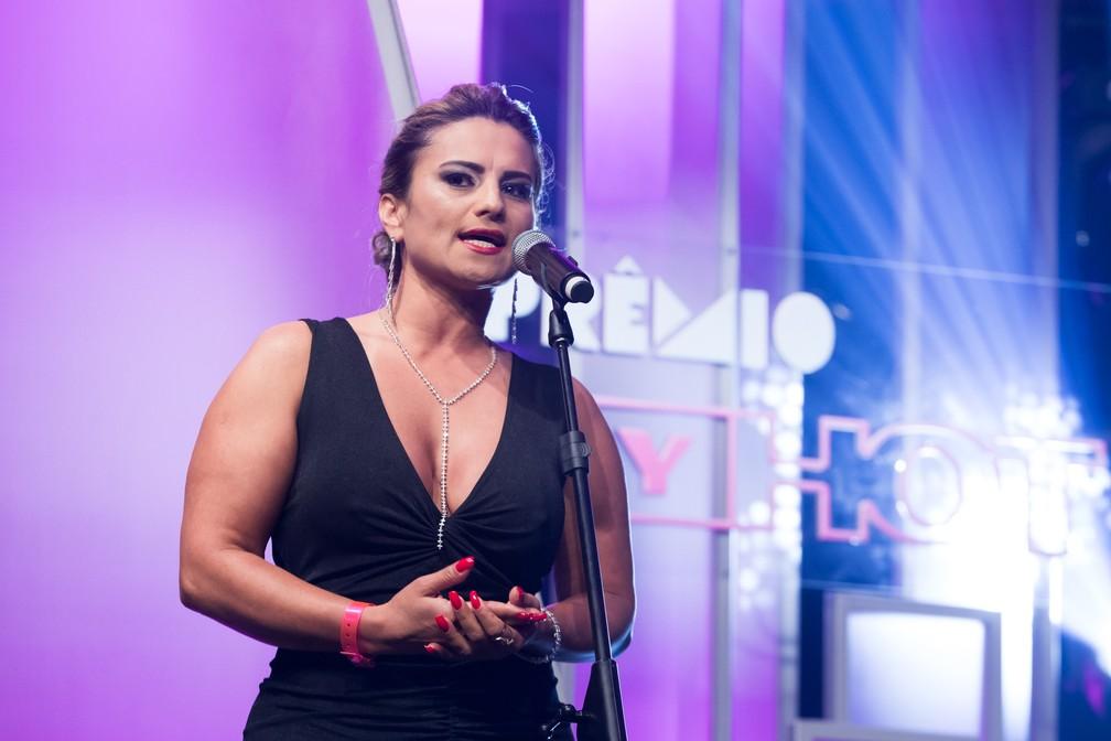 Márcia Imperator é uma das convidadas do Prêmio Sexy Hot 2018 — Foto: Celso Tavares/G1