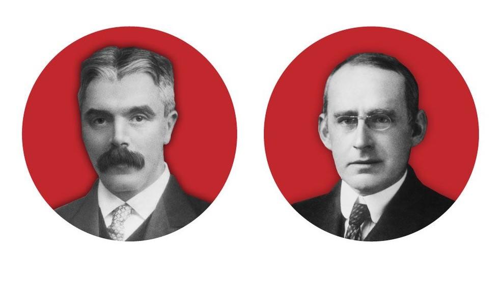 Frank Watson Dyson e Arthur Stanley Eddington usaram eclipse de 1919 para testar a teoria de Einstein; um era cético, e o outro era entusiasta das ideias do alemão — Foto: Science Photo Library
